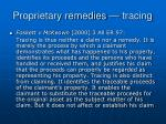 proprietary remedies tracing13