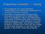 proprietary remedies tracing14
