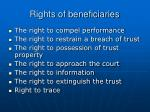 rights of beneficiaries
