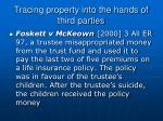 tracing property into the hands of third parties28
