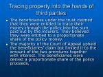 tracing property into the hands of third parties29