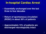 in hospital cardiac arrest