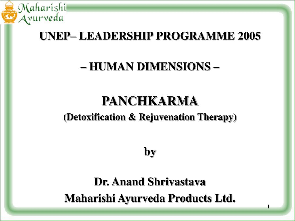 UNEP– LEADERSHIP PROGRAMME 2005