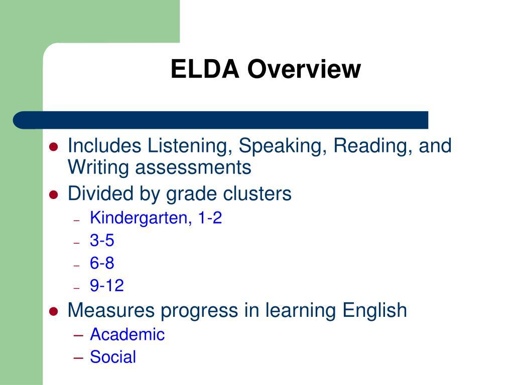 ELDA Overview