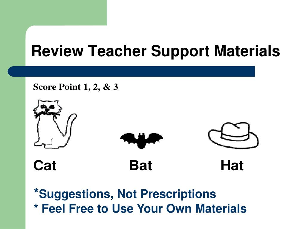 Review Teacher Support Materials