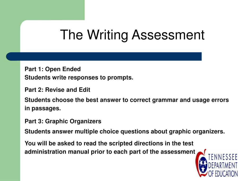 The Writing Assessment
