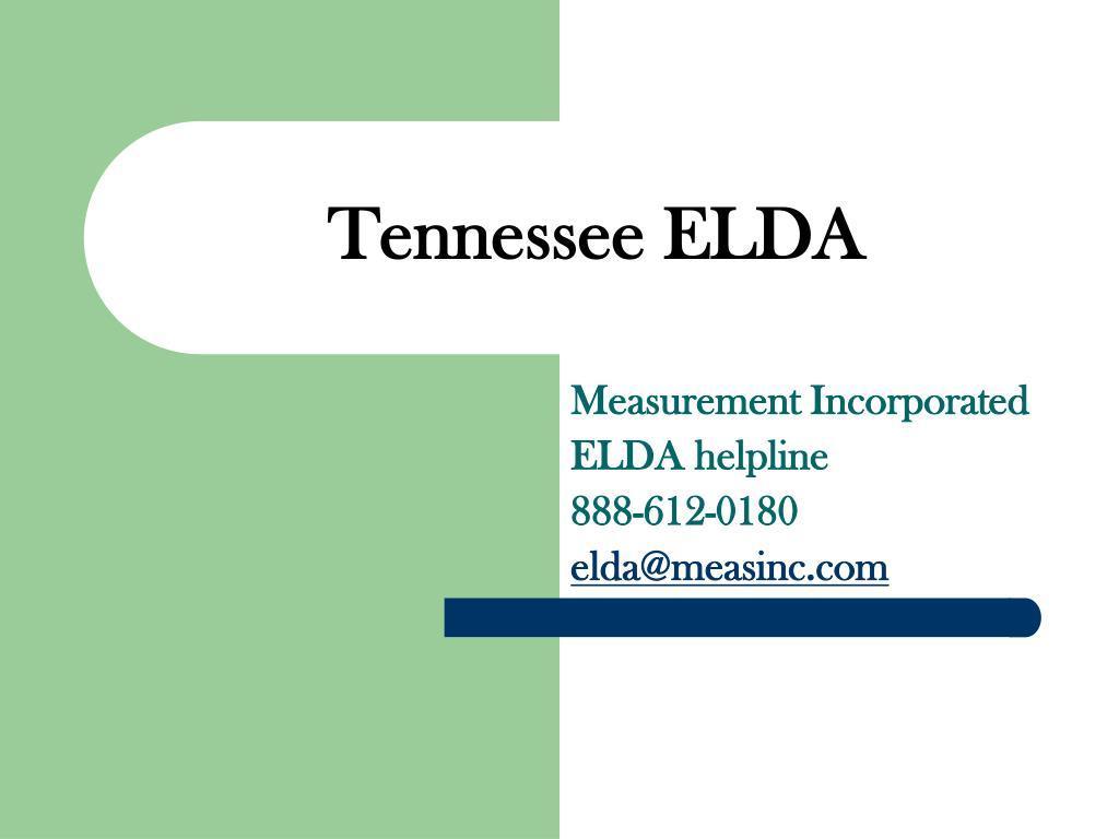Tennessee ELDA
