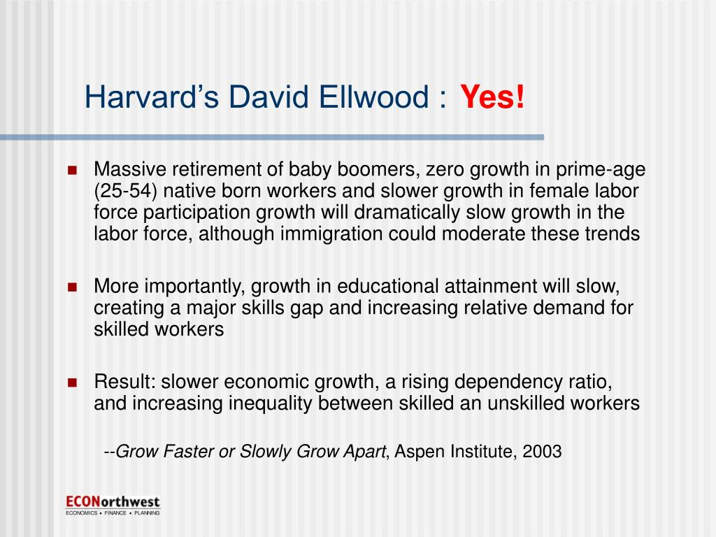 Harvard's David Ellwood :