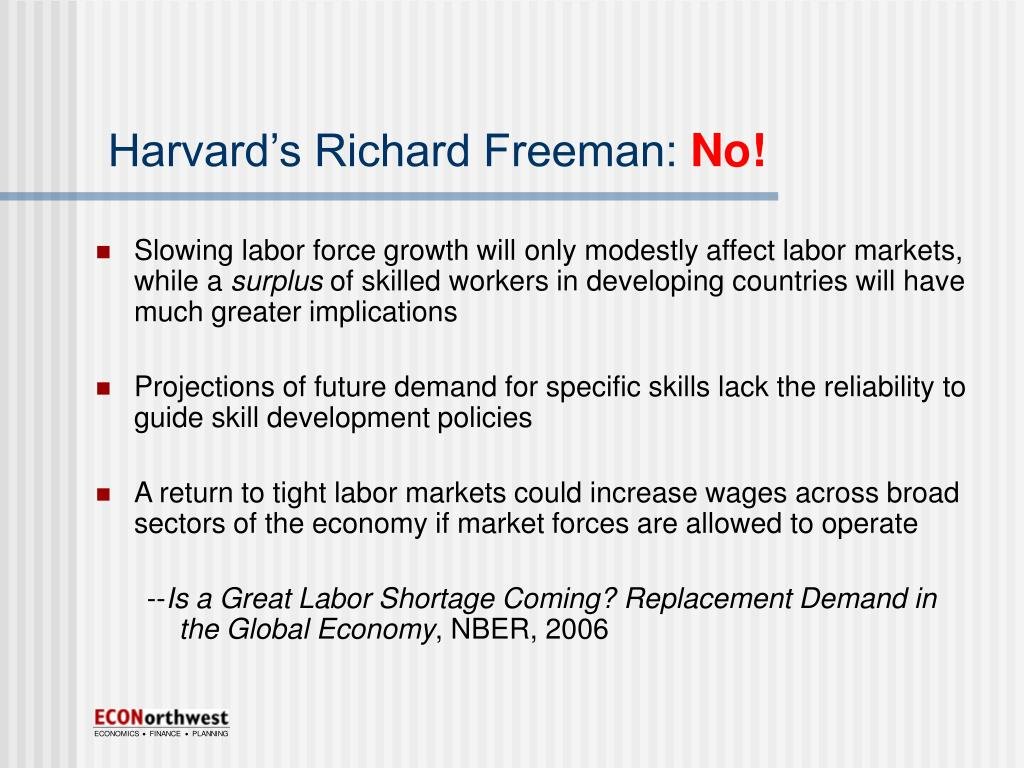 Harvard's Richard Freeman: