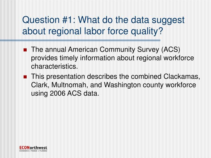 Question 1 what do the data suggest about regional labor force quality