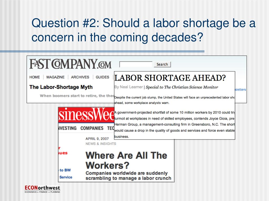 Question #2: Should a labor shortage be a concern in the coming decades?