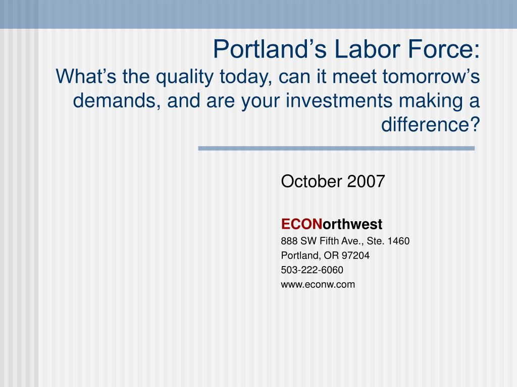 Portland's Labor Force: