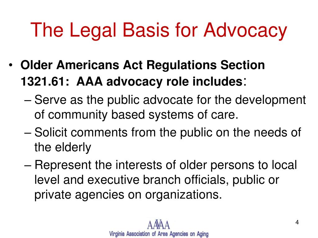 The Legal Basis for Advocacy