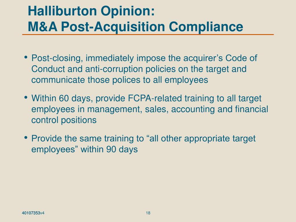 Halliburton Opinion: