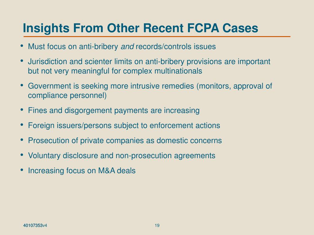 Insights From Other Recent FCPA Cases