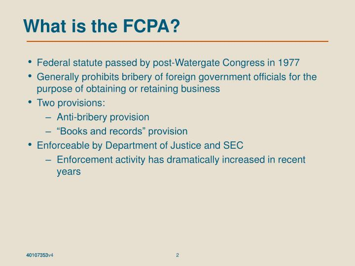 What is the fcpa