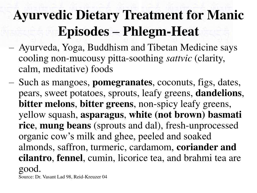 Ayurvedic Dietary Treatment