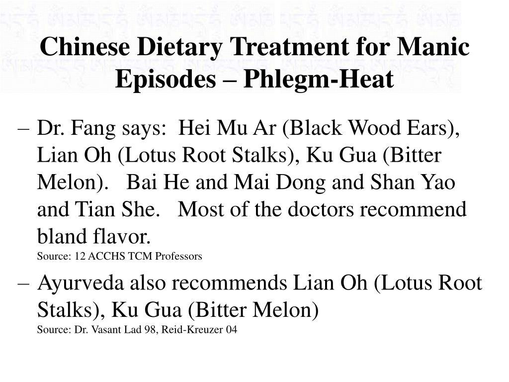 Chinese Dietary Treatment