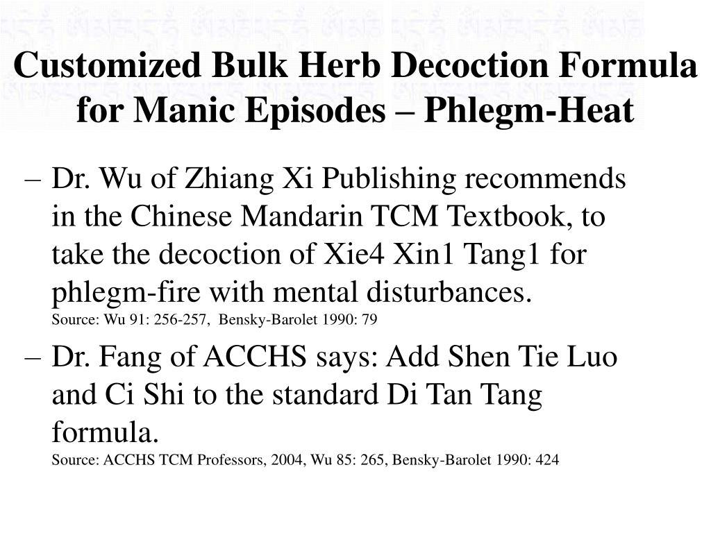 Customized Bulk Herb Decoction Formula