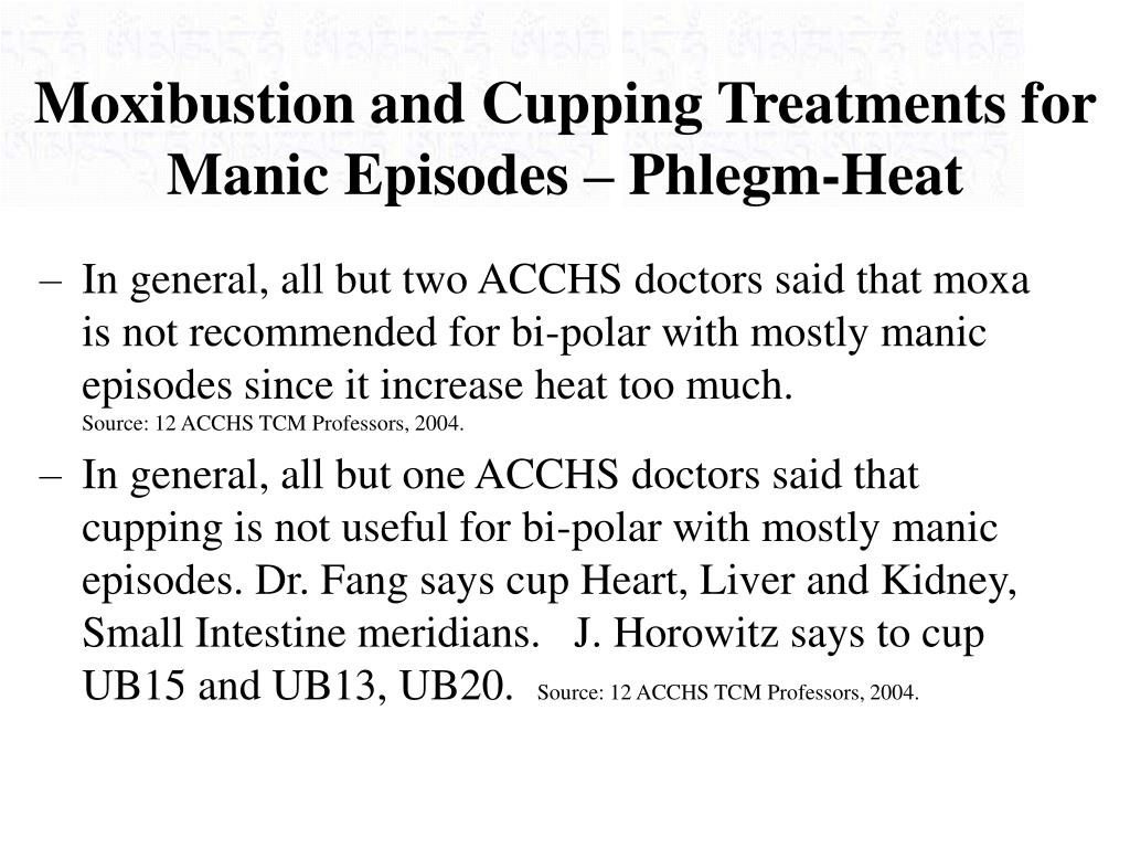 Moxibustion and Cupping Treatments for Manic Episodes – Phlegm-Heat