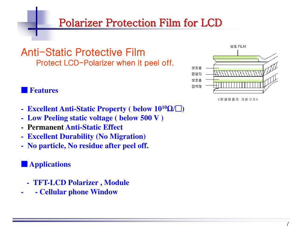 Polarizer Protection Film for LCD