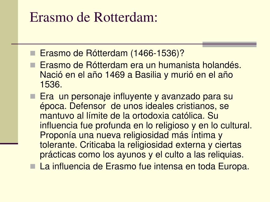 Erasmo de Rotterdam: