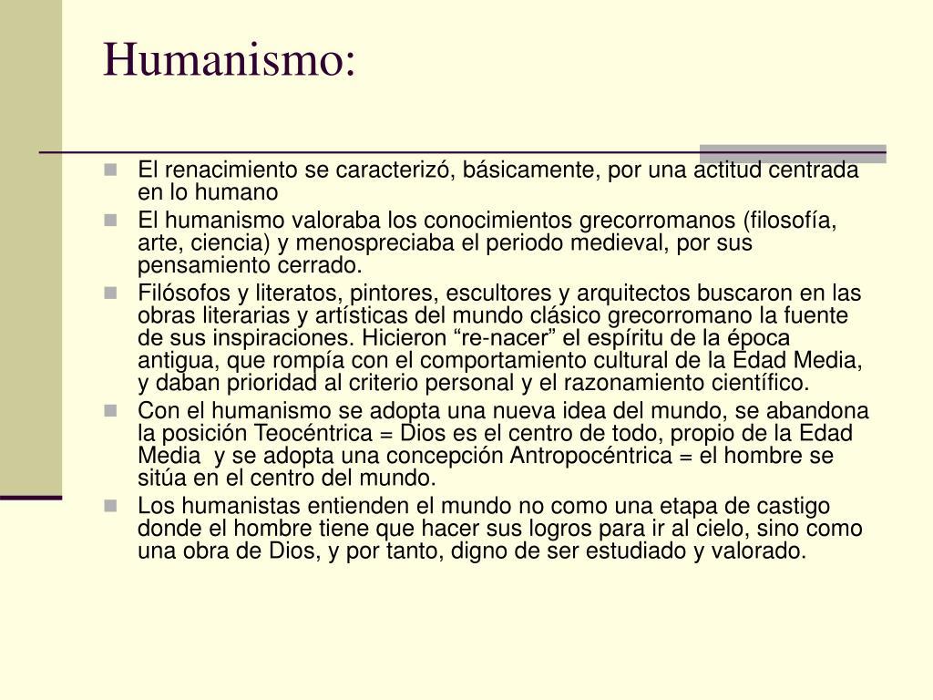 Humanismo: