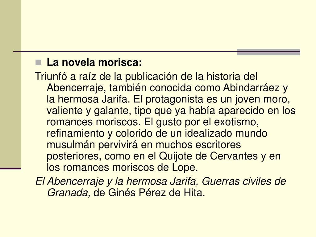 La novela morisca: