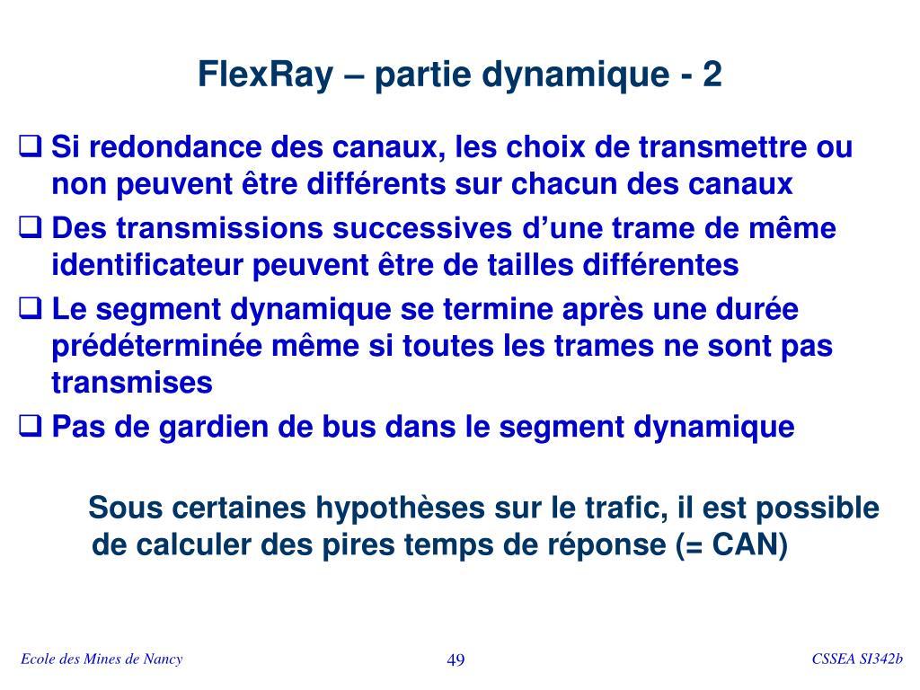FlexRay – partie dynamique - 2
