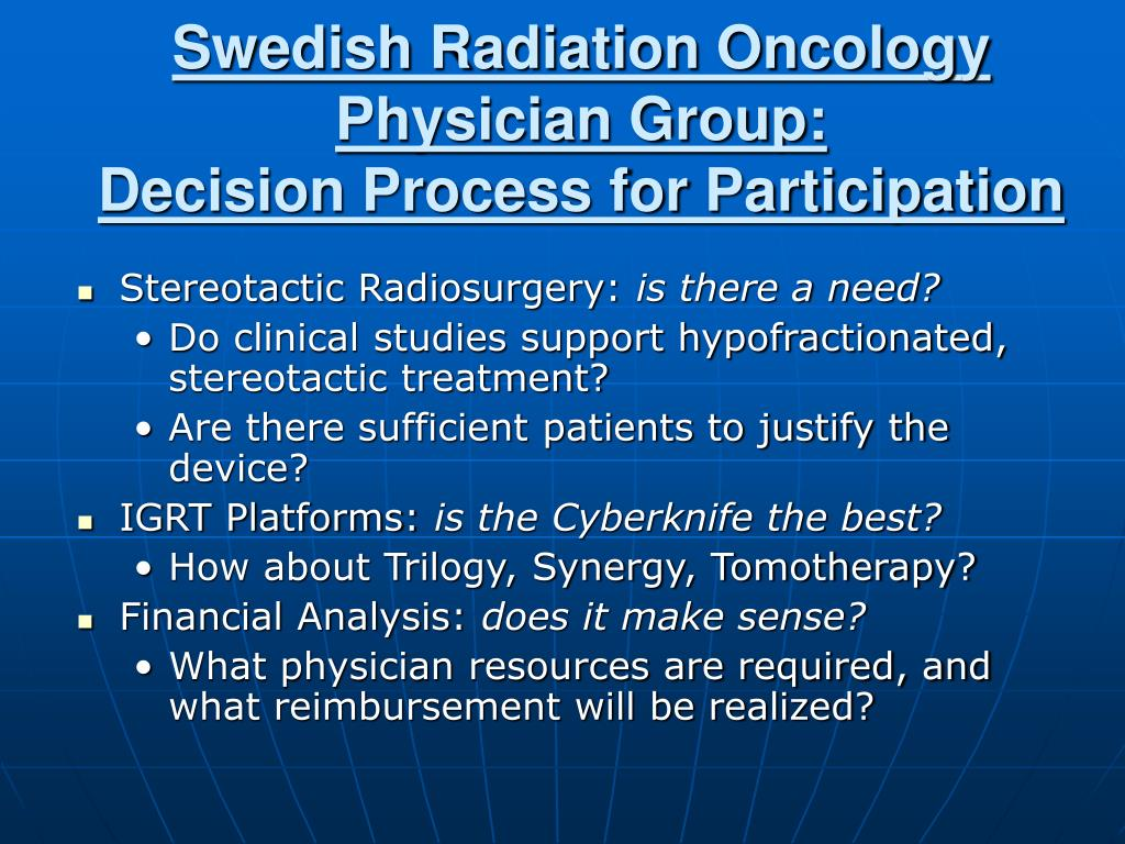 Swedish Radiation Oncology Physician Group: