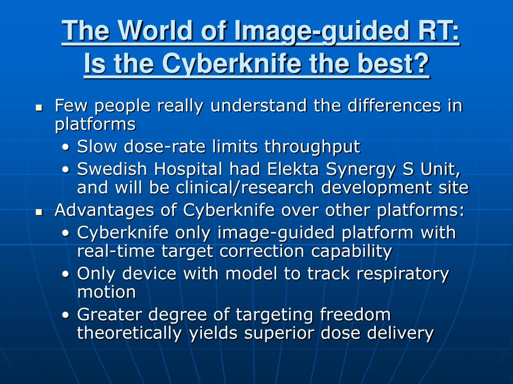 The World of Image-guided RT: