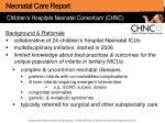 children s hospitals neonatal consortium chnc