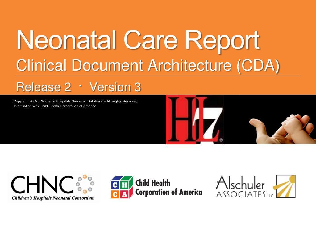 neonatal care report