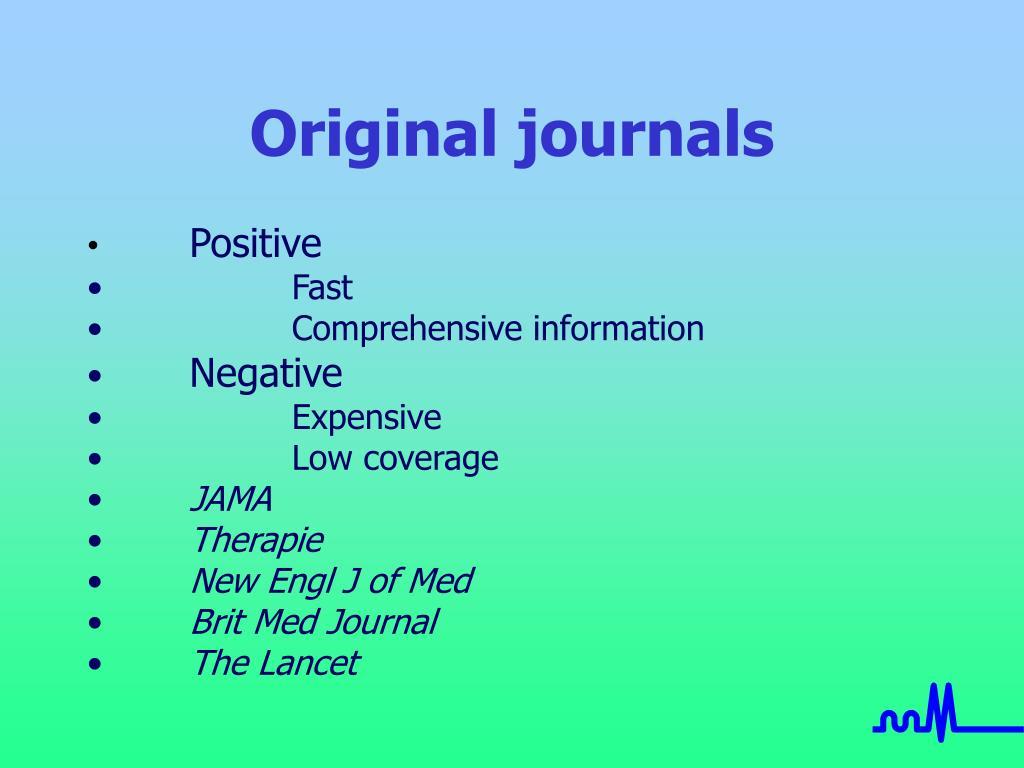 Original journals