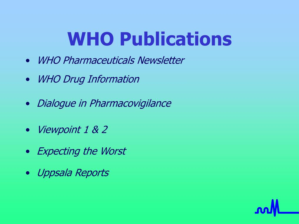 WHO Publications