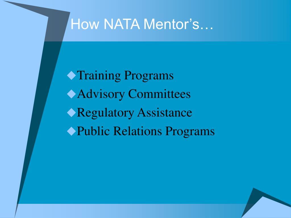 How NATA Mentor's…