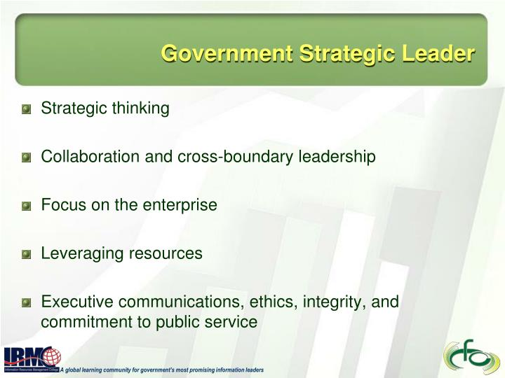 Government strategic leader