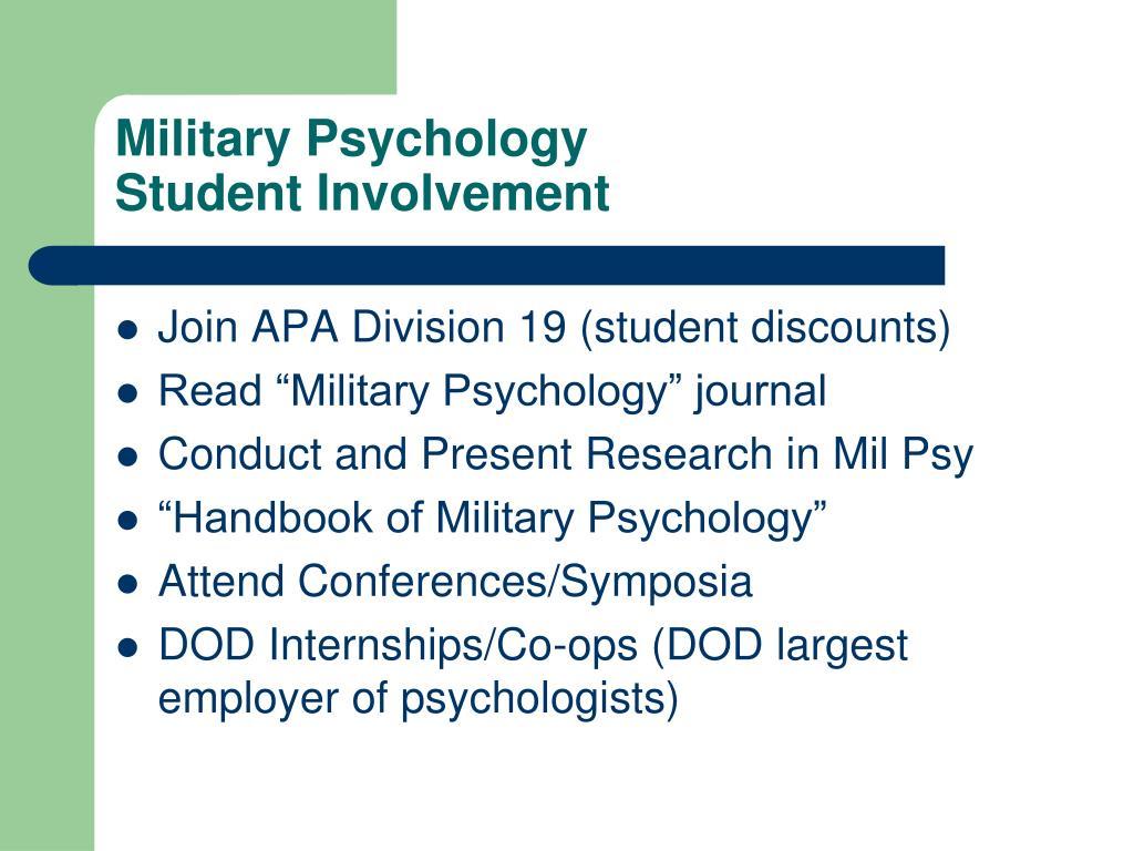 Military Psychology