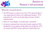 barriers to women s advancement9