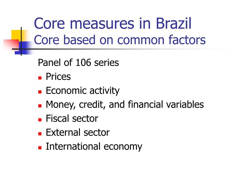 Core measures in Brazil
