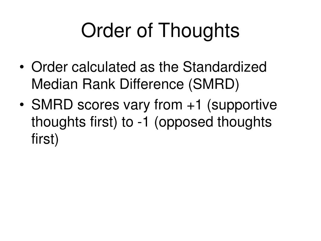 Order of Thoughts