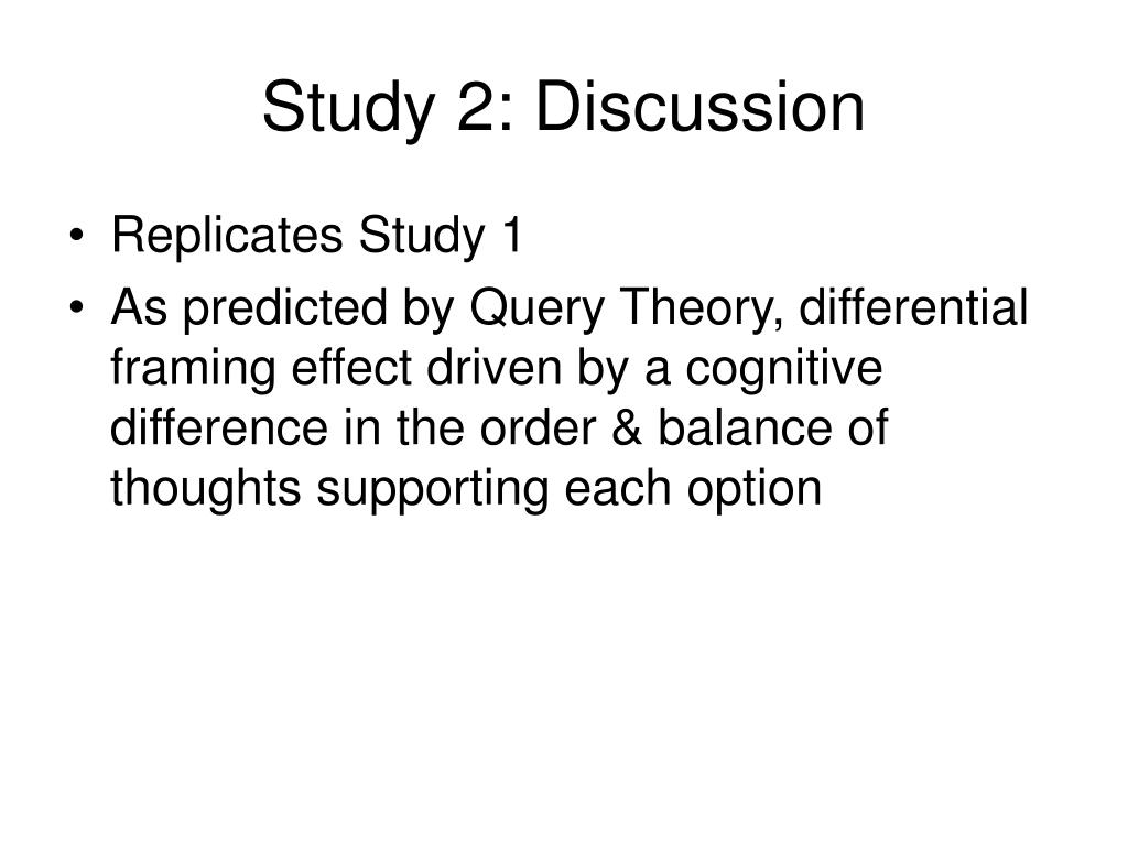 Study 2: Discussion