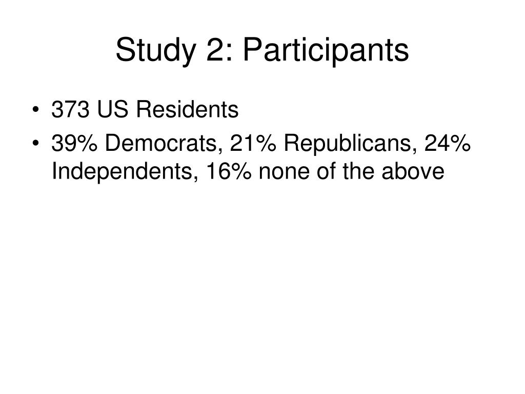 Study 2: Participants