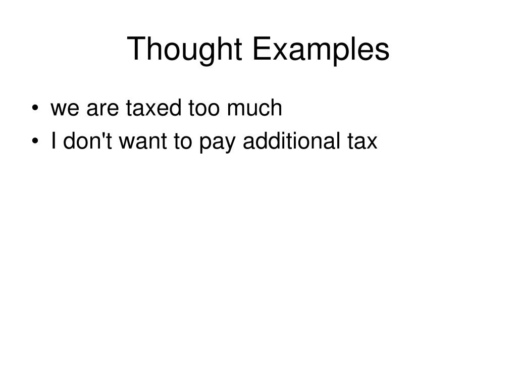 Thought Examples
