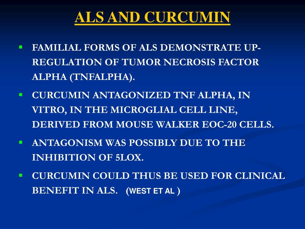 ALS AND CURCUMIN
