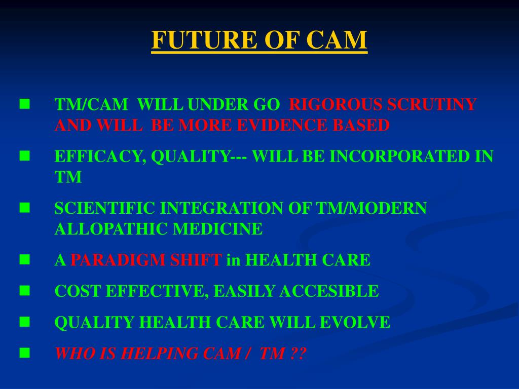 FUTURE OF CAM