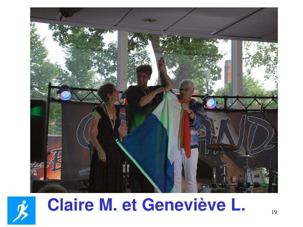 Claire M. et Geneviève L.
