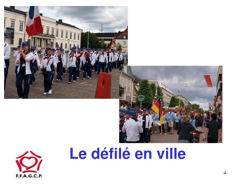 Le défilé en ville
