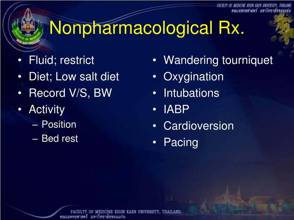 Nonpharmacological Rx.