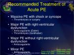 recommended treatment of acute pe